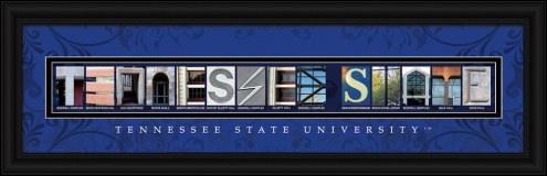 Tennessee State Tigers Campus Letter Art