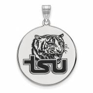 Tennessee State Tigers Sterling Silver Extra Large Enameled Disc Pendant