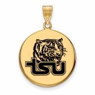 Tennessee State Tigers Sterling Silver Gold Plated Large Pendant