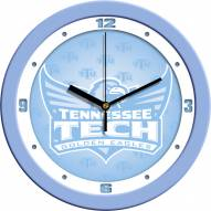 Tennessee Tech Golden Eagles Baby Blue Wall Clock