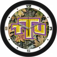 Tennessee Tech Golden Eagles Camo Wall Clock