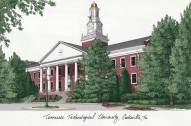 Tennessee Tech Golden Eagles Campus Images Lithograph