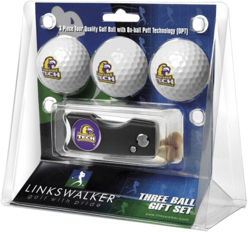 Tennessee Tech Golden Eagles Golf Ball Gift Pack with Spring Action Divot Tool
