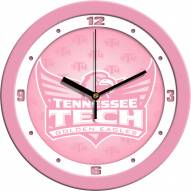 Tennessee Tech Golden Eagles Pink Wall Clock