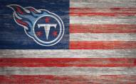 """Tennessee Titans 11"""" x 19"""" Distressed Flag Sign"""