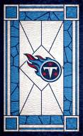 """Tennessee Titans 11"""" x 19"""" Stained Glass Sign"""