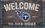 """Tennessee Titans 11"""" x 19"""" Welcome to Our Home Sign"""