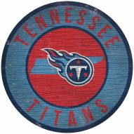"""Tennessee Titans 12"""" Circle with State Sign"""