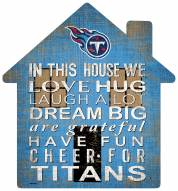 """Tennessee Titans 12"""" House Sign"""