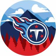"""Tennessee Titans 12"""" Landscape Circle Sign"""