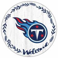 """Tennessee Titans 12"""" Welcome Circle Sign"""