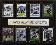 """Tennessee Titans 12"""" x 15"""" All-Time Greats Plaque"""