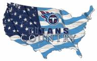 "Tennessee Titans 15"" USA Flag Cutout Sign"