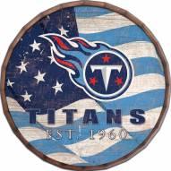 """Tennessee Titans 16"""" Flag Barrel Top"""