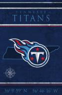 """Tennessee Titans 17"""" x 26"""" Coordinates Sign"""