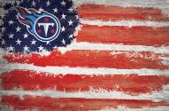 """Tennessee Titans 17"""" x 26"""" Flag Sign"""
