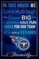 """Tennessee Titans 17"""" x 26"""" In This House Sign"""