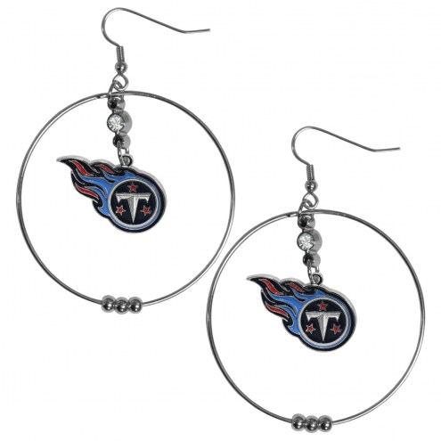 "Tennessee Titans 2"" Hoop Earrings"
