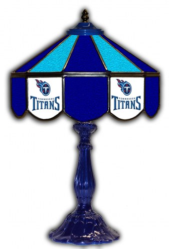"""Tennessee Titans 21"""" Glass Table Lamp"""