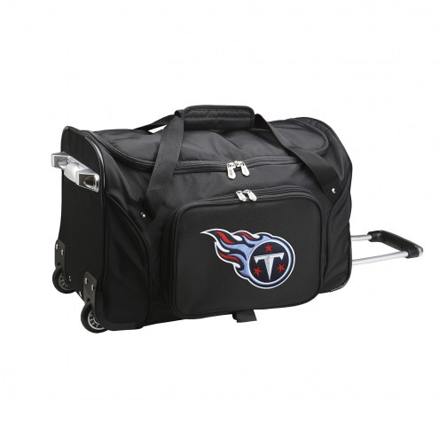 """Tennessee Titans 22"""" Rolling Duffle Bag"""