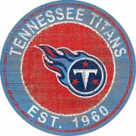 """Tennessee Titans 24"""" Heritage Logo Round Sign"""
