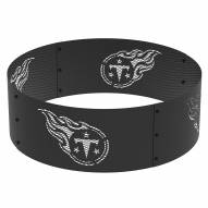 """Tennessee Titans 36"""" Round Steel Fire Ring"""