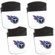Tennessee Titans 4 Pack Chip Clip Magnet with Bottle Opener