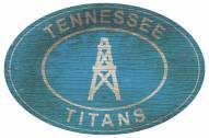 """Tennessee Titans 46"""" Heritage Logo Oval Sign"""