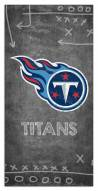 """Tennessee Titans 6"""" x 12"""" Chalk Playbook Sign"""