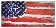 """Tennessee Titans 6"""" x 12"""" Flag Sign"""
