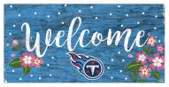 """Tennessee Titans 6"""" x 12"""" Floral Welcome Sign"""