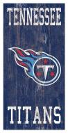 """Tennessee Titans 6"""" x 12"""" Heritage Logo Sign"""