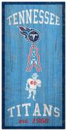 """Tennessee Titans 6"""" x 12"""" Heritage Sign"""