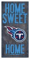 """Tennessee Titans 6"""" x 12"""" Home Sweet Home Sign"""