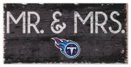 "Tennessee Titans 6"" x 12"" Mr. & Mrs. Sign"