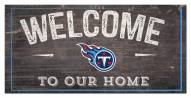 """Tennessee Titans 6"""" x 12"""" Welcome Sign"""