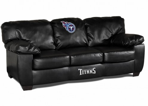 Tennessee Titans Black Leather Classic Sofa