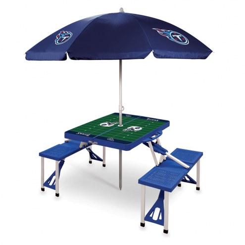 Tennessee Titans Blue Picnic Table w/Umbrella