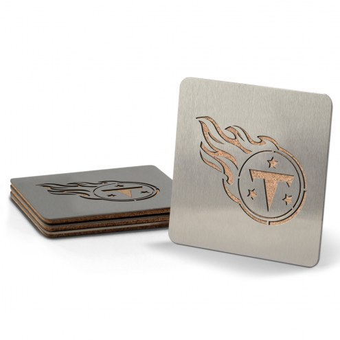 Tennessee Titans Boasters Stainless Steel Coasters - Set of 4