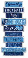 Tennessee Titans Celebrations Stack Sign