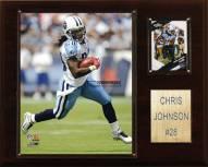 "Tennessee Titans Chris Johnson 12 x 15"" Player Plaque"