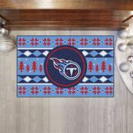 Tennessee Titans Christmas Sweater Starter Rug