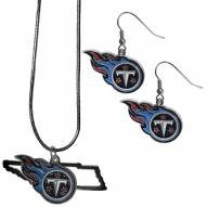 Tennessee Titans Dangle Earrings & State Necklace Set