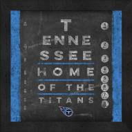 Tennessee Titans Eye Chart