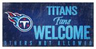Tennessee Titans Fans Welcome Sign