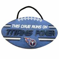 Tennessee Titans Football Power Wood Sign