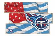 Tennessee Titans Flag 3 Plank Sign