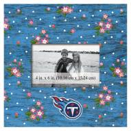 """Tennessee Titans Floral 10"""" x 10"""" Picture Frame"""