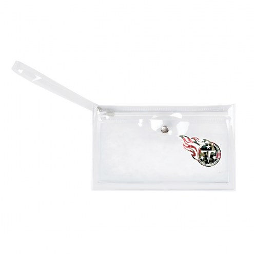 Tennessee Titans Floral Clear Ticket Wristlet