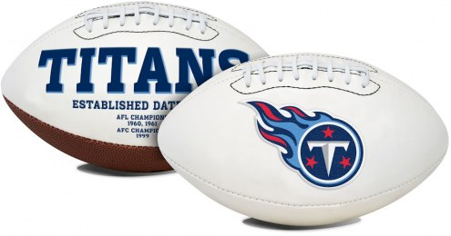 Tennessee Titans Full Size Embroidered Signature Series Football